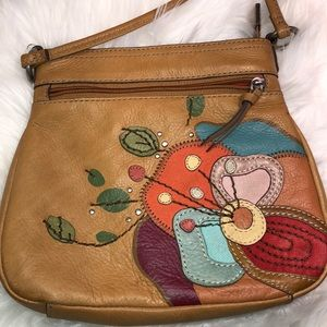 Fossil Leather Crossbody Good Condition